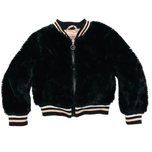 Urban Republic Black Faux Fur Bomber Jacket